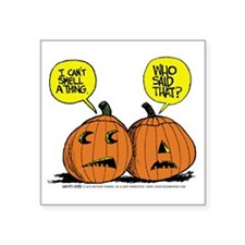 "Halloween Daddys Home Pumpk Square Sticker 3"" x 3"""