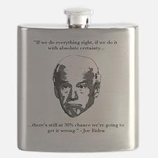Joe Biden: 30% Chance Quote Flask