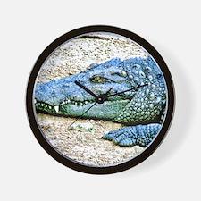 Mad Crocodile Wall Clock