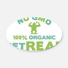NO GMO Oval Car Magnet