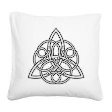 Knot Design Square Canvas Pillow