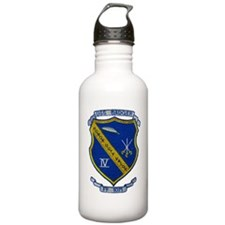 uss badger ff patch tr Water Bottle