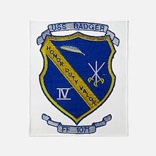 uss badger ff patch transparent Throw Blanket