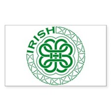 Irish Knot Work Shamrock Rectangle Decal