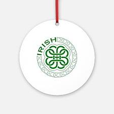 Irish Knot Work Shamrock Ornament (Round)