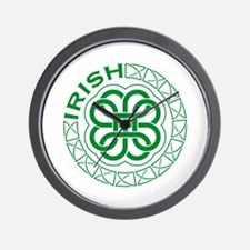 Irish Knot Work Shamrock Wall Clock