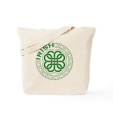 Irish Knot Work Shamrock Tote Bag