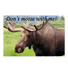 Don't moose with me! Alas Postcards (Package of 8)