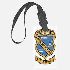 uss badger de patch transparent Luggage Tag