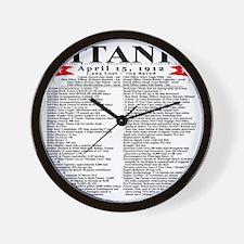 TG5StatsFrontBlackTrans-e Wall Clock
