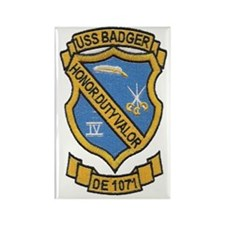 uss badger de patch transparent Rectangle Magnet