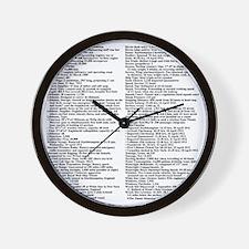 TG5StatsBackTransBlack-e Wall Clock