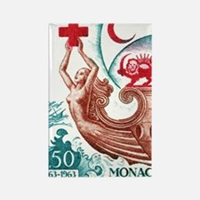 1963 Monaco International Red Cro Rectangle Magnet