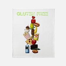 Make Mine Gluten Free - darks Throw Blanket