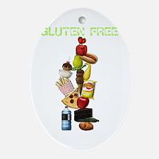 Make Mine Gluten Free - darks Oval Ornament