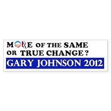 Gary Johnson 2012 - Change Bumper Sticker
