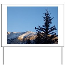 Rocky Mountains: Bird in a Tree Yard Sign