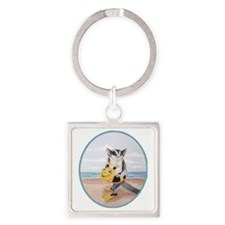 beach baby Square Keychain