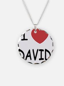 i heart david Necklace