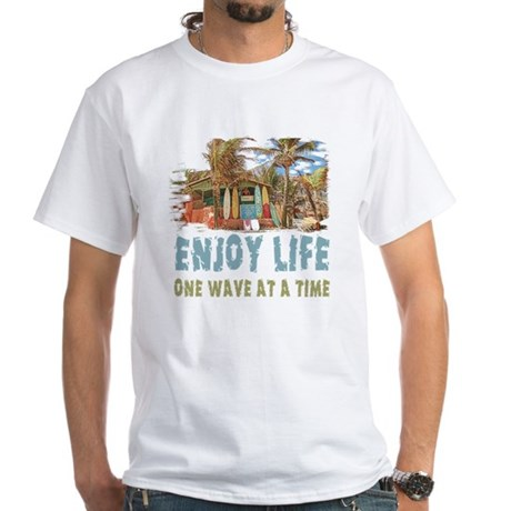 Enjoy Life White T-Shirt