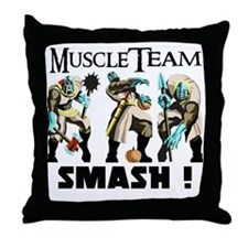 Muscle Team Smash Throw Pillow