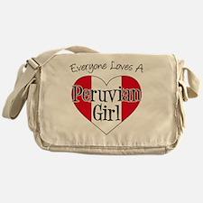 Everyone Loves Peruvian Girl Messenger Bag