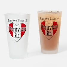 Everyone Loves Peruvian Girl Drinking Glass