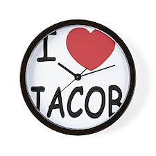 i heart jacob Wall Clock
