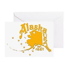 ALASKA 1867 GOLD Greeting Card