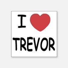 "i heart trevor Square Sticker 3"" x 3"""
