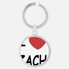 i heart zach Round Keychain