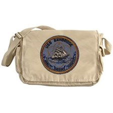 uss bainbridge patch transparent Messenger Bag