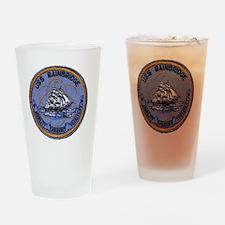 uss bainbridge patch transparent Drinking Glass