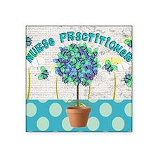 "Nurse Practitioner Butterfl Square Sticker 3"" x 3"""