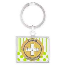 Nurse Practitioner lime and pol Landscape Keychain