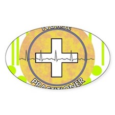 Nurse Practitioner lime and polka d Decal