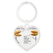 Republican Nut Heart Keychain