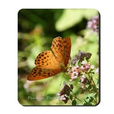 Notecard---Gold-Butterfly. Mousepad