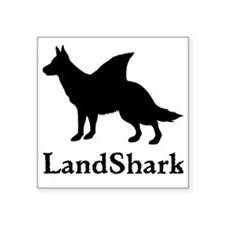 "LandShark Large Square Sticker 3"" x 3"""