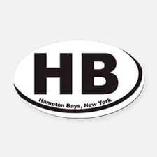 Hampton Bays HB Euro Oval Sticker Oval Car Magnet