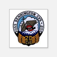 "uss bennington cvs patch tr Square Sticker 3"" x 3"""