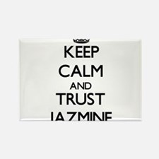 Keep Calm and trust Jazmine Magnets