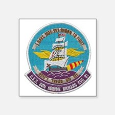 "uss bon homme richard cva p Square Sticker 3"" x 3"""