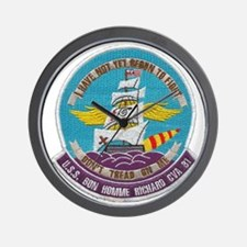 uss bon homme richard cva patch transpa Wall Clock