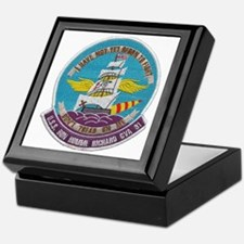 uss bon homme richard cva patch trans Keepsake Box