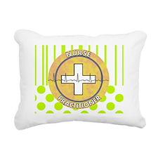 Nurse Practitioner lime  Rectangular Canvas Pillow