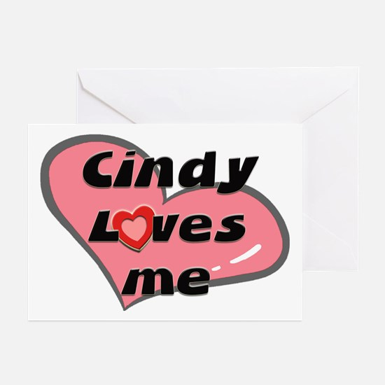 cindy loves me  Greeting Cards (Pk of 10)