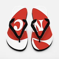 New York CIty Big Red Apple Flip Flops