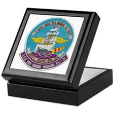 uss bon homme richard cv patch transp Keepsake Box