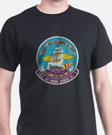 uss bon homme richard cv patch transp T-Shirt